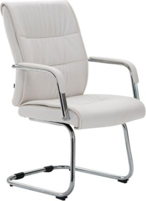 CLP Freischwingerstuhl SIEVERT mit hochwertiger Polsterung und Kunstlederbezug Konferenzstuhl mit Armlehne und Bodenschonern | Büro > Bürostühle und Sessel  > Konferenzstühle | CLP