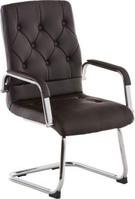 freischwinger stuhl mit armlehne claire besucherstuhl konferenzstuhl mit gepolsterter. Black Bedroom Furniture Sets. Home Design Ideas