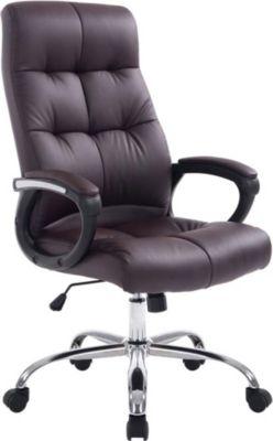 CLP XXL Bürostuhl POSEIDON mit hochwertiger Polsterung und Kunstlederbezug Höhenverstellbarer Drehstuhl mit Laufrollen R