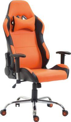 CLP Racing-Bürostuhl ROSBERG mit hochwertiger Polsterung und Kunstlederbezug Chefsessel mit Wippmechanismus und stufenloser Sitzhöhenverstellung In verschiedenen Farben erhältlich