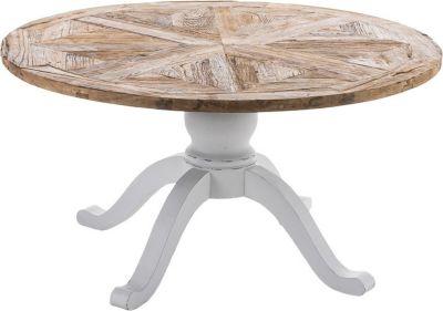 Holz Esszimmer-Tisch FABIA, rund, handgefertigt, Shabby chic Landhaus-Stil, Größe wählbar