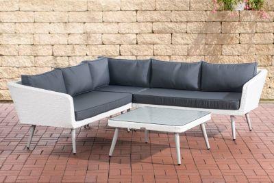 Gartenlounge rattan weiss  weiss-rattan-polyrattan- Loungemöbel-Garten online kaufen | Möbel ...