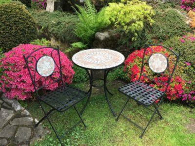 HTI Living HTI-Living Metalltisch mit Stühlen Marokko
