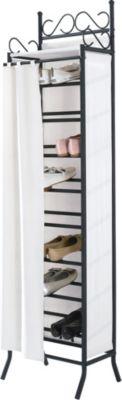 Schuhregal Schuhschrank ´´Breezy´´ mit Stoffbezug, beige