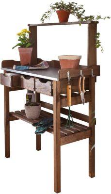 Pflanztisch für den Garten, Holz, braun