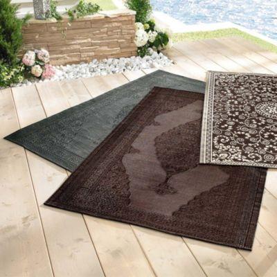 Trendfabrik Best of home Outdoor-Teppich 120 cm x 180 cm Braun