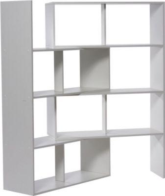 Raumteiler Regal, ausziehbar, weiß
