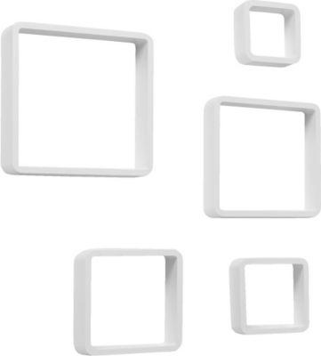 Regalset ´´Cube´´, 5-tlg. Weiß