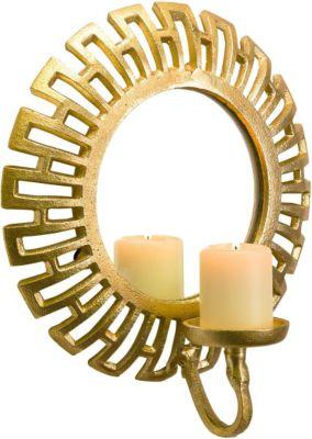 miaVILLA Wandteelichthalter Mirror Goldfarben