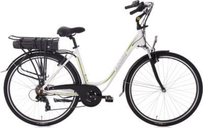 Pedelec E-Bike Cityfahrrad 28'' Adore Versailles weiß-grün