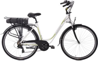 Pedelec E-Bike Cityfahrrad 28´´ Adore Versailles weiß-grün