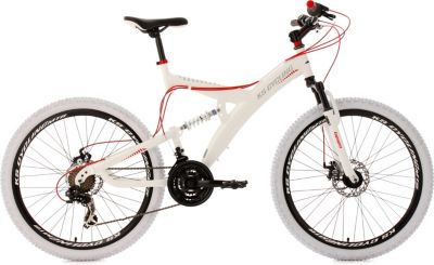 Fully Mountainbike 21 Gänge Topspin 26 Zoll weiß-rot