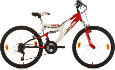 Kinderfahrrad 24'' Zodiac weiß-rot RH 38 cm KS Cycling