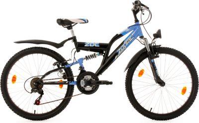 Kinderfahrrad 24´´ Zodiac schwarz-blau RH 38 cm KS Cycling