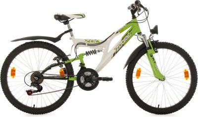 Kinderfahrrad 24'' Zodiac weiß-grün RH 38 cm KS Cycling