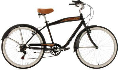 KS Cycling Beachcruiser Herren, , »Vintage«, 26 Zoll 6 Gang Shimano Tourney, V-Brakes