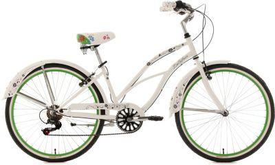 KS Cycling Beachcruiser Damen, , »Bellefleur«, weiß, 26 Zoll 6 Gang Shimano Tourney SIS, V-Brakes