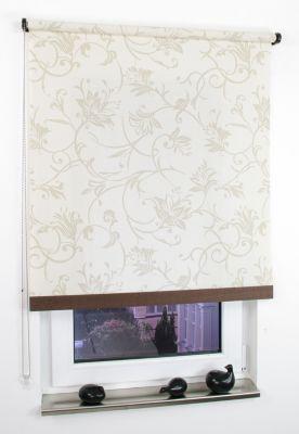 Liedeco Rollo Natur mit Seitenzug, Seitenzugrollo, Länge 180 cm