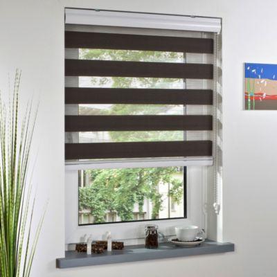Liedeco DUO-Rollo mit Kassette espresso für Fenster und Türen