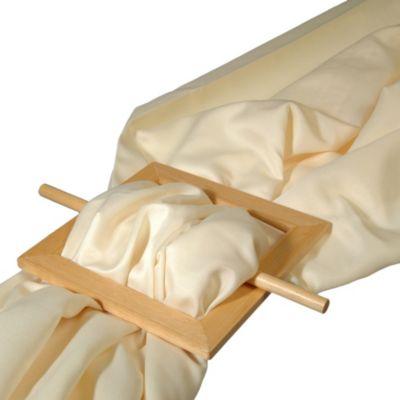 Raffspange aus Holz eckig für Gardinen, 1 Stk