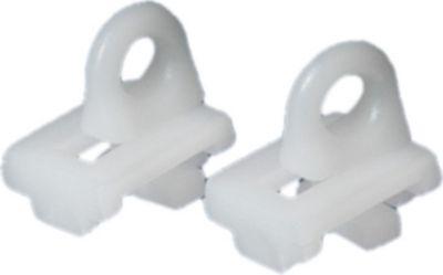 Endfeststeller für Flächenvorhangschienen, Schiebevorhang, 2 Stk