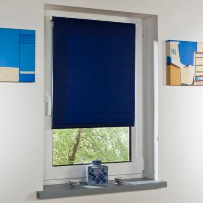 Liedeco Klemmfix-Rollo blau mit Klemmträger lichtdurchlässig Länge 150 cm