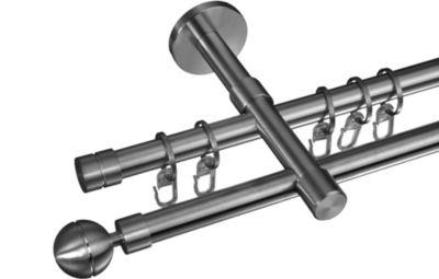 Gardinenstange Kugel, 16 mm Stilgarnitur aus Edelstahl
