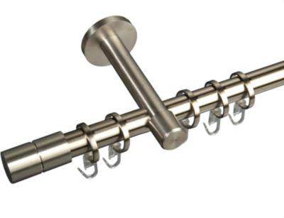 Gardinenstange Edelstahl / Messing Zylinder, 20 mm Stilgarnitur