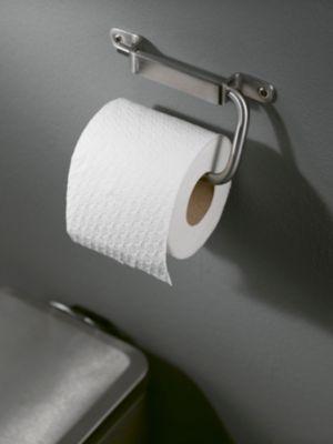 Toilettenpapierhalter, WC-Rollen-Halter IXI, edelstahl gebürstet