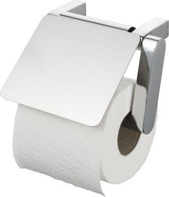 Toilettenpapierhalter, WC-Rollen-Halter mit Deckel - Viero