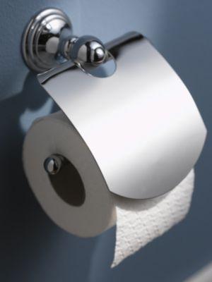 Toilettenpapierhalter, WC-Rollenhalter mit Deckel, Allure verchromt