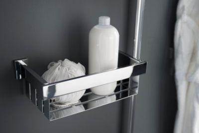 Ablagekorb Dusche, Flaschenhalter, Flaschenkorb Edge, verchromt