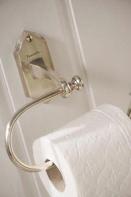 Nostalgischer Toilettenpapierhalter, WC-Rollen-Halter - silber - Vintage