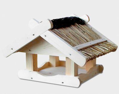 House & Garden Holz-Vogelfutterhaus ´´Steinkauz´´