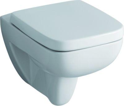 Keramag WC-Sitz RENOVA Nr. 1 PLAN mit Deckel Scharniere: Edelstahl weiß