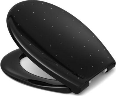 Cedo WC-Sitz CEDO COMO Diamond schwarz mit Soft-Close/TakeOff und SWAROWSKI Elementen