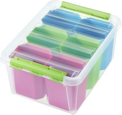 Clipbox Smart Store Colour 15, mit 6 Einsätzen