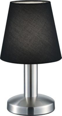 Trio Leuchten GmbH Tischl.TOUCH ME,1xE14 schwarz 599600102 H.24cm,Nickel matt,Stoffschirm