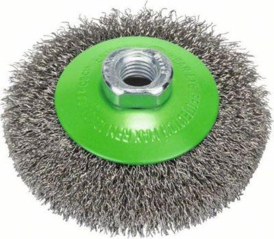 Bosch Kegelbürste gewellter Draht 100 mm M14 rostfrei´´ 2608622108´´