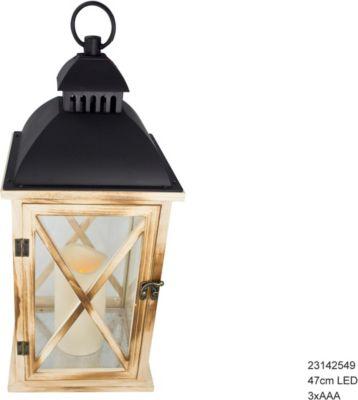 Laterne Holz 47cm LED