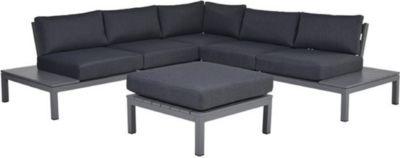 Garden Impressions Alu Loungegruppe Annabella 4tlg. Set Arctic Grey/ Reflex  Black