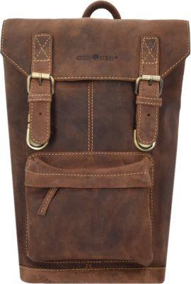 Greenburry Vintage Rucksack Leder 42 cm Laptopfach