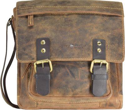 Greenburry Vintage Umhängetasche Leder 22 cm