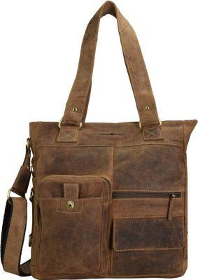 Vintage Handtasche Leder 39 cm