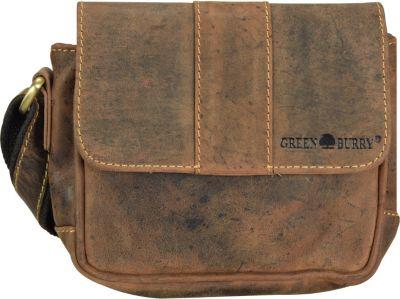Greenburry Vintage Umhängetasche Leder 19 cm