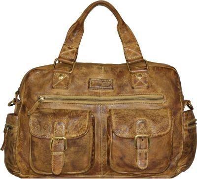 Greenland Soft Bags Handtasche Leder 43 cm