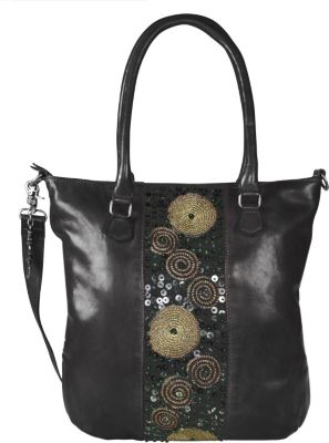 Zari Handtasche Leder 28 cm