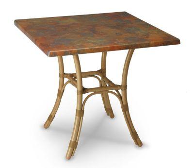 Tisch Bambus mit Werzalitplatte, eckig