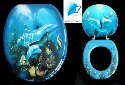 WC-Sitz Delphin in 2 Ausführungen