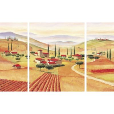 Josef Göttl Bild Triptychon Toskana 2x 20/50 cm, 1x 40/50 cm
